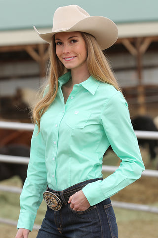 Cinch Ladies Mint Horse Show Dress Shirt