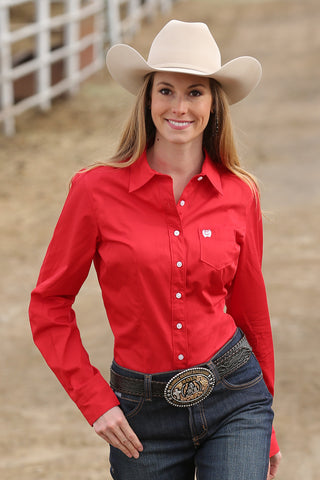 Red Ladies Horse Show Shirt