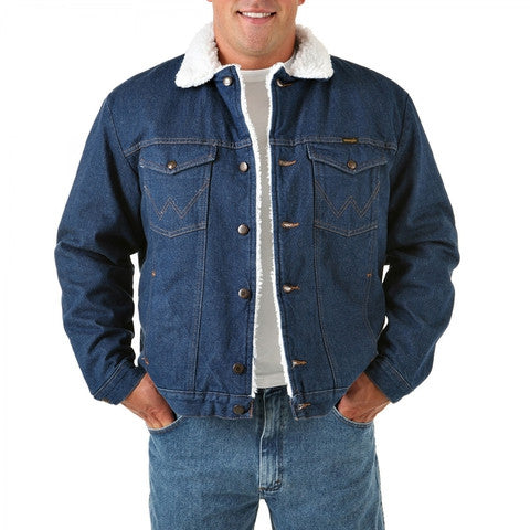 Wrangler® Sherpa Lined Denim Jacket - Pete's Town Western Wear