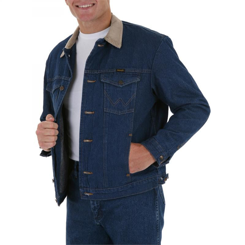 Wrangler® Blanket Lined Denim Jacket - Pete's Town Western Wear