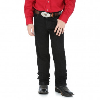 Boy's Wrangler Cowboy Cut® Original Fit Black Denim Jeans - Pete's Town Western Wear