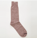 Melange Linen Socks Red