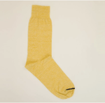 Melange Linen Socks Yellow