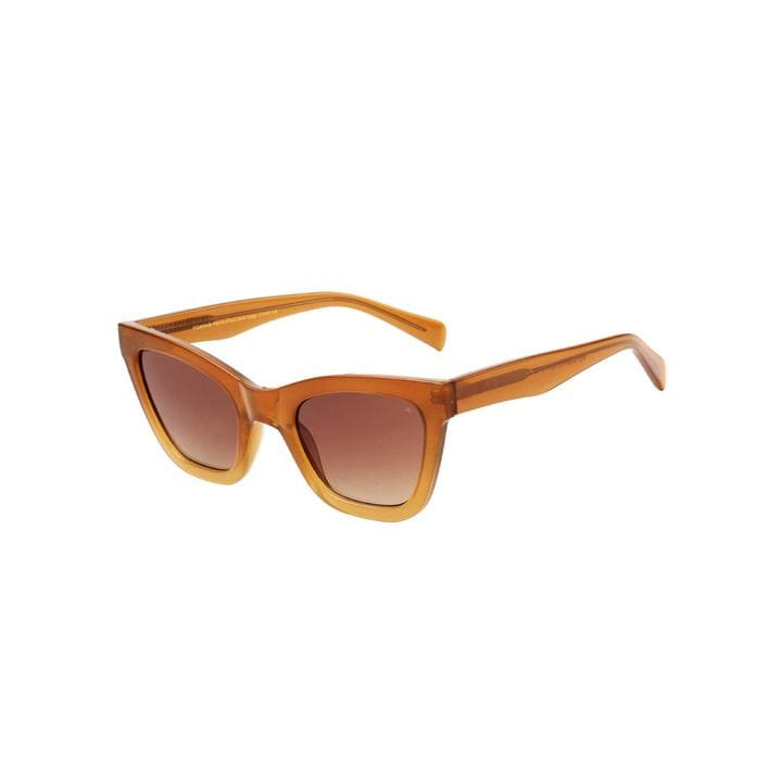 Big Kanye Sunglasses in Brown Transparent