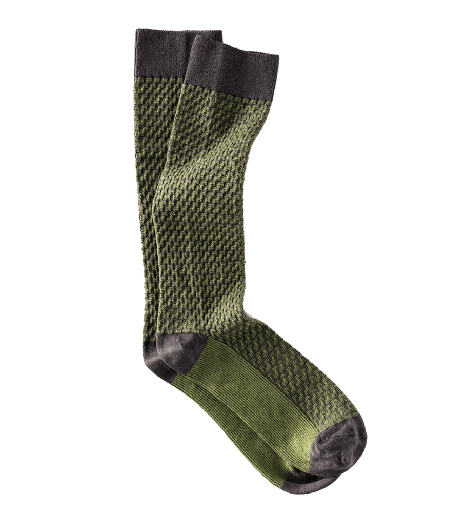Bennett  Cotton Sock in Expresso/Jade