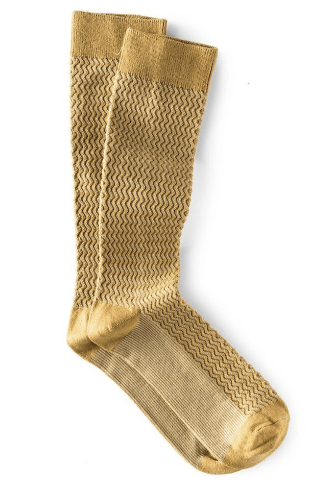 Downtown Cotton Socks in Ochre/Khaki
