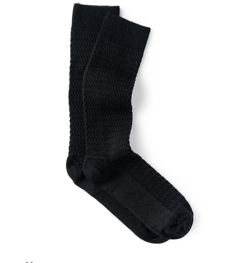 Downtown Wool Socks in Ebony/Black