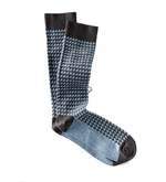 Thom Wool Socks in Expresso/Winter Sky