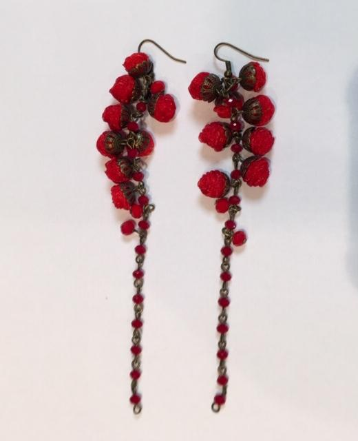 Ana Popov Accessories ONE / Rouge Odette Earrings