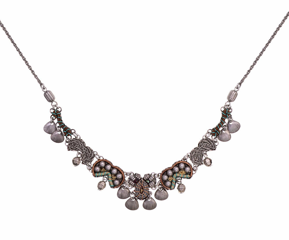 Ayala Bar Necklaces Intricate Indigo Metal Light Necklace