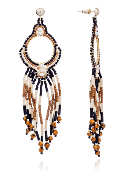 AZUNI LONDON Earrings Bonita Beaded Tassel Earrings Lynx