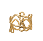 Thalia Small Sculptural Ring in Gold