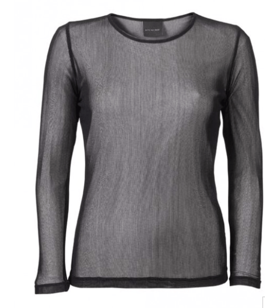 Silk Mesh T-Shirt in Black