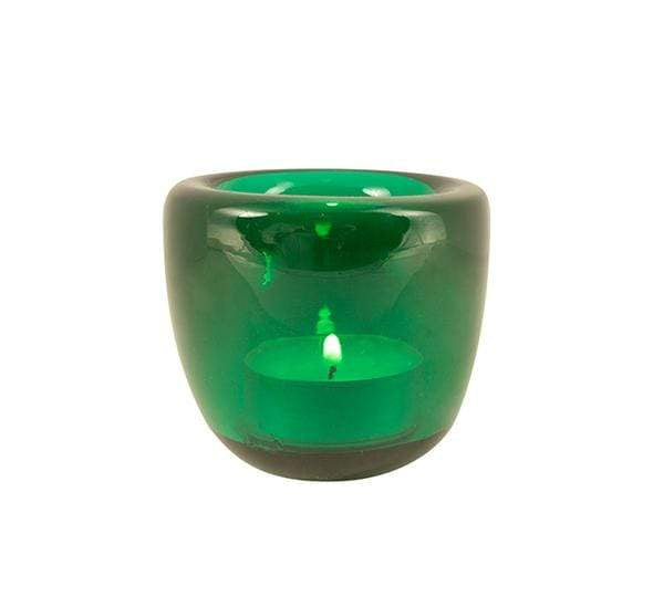 Tea Light Holder in Peacock Green