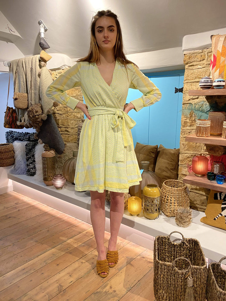 Sophia Dress in Canary Yellow