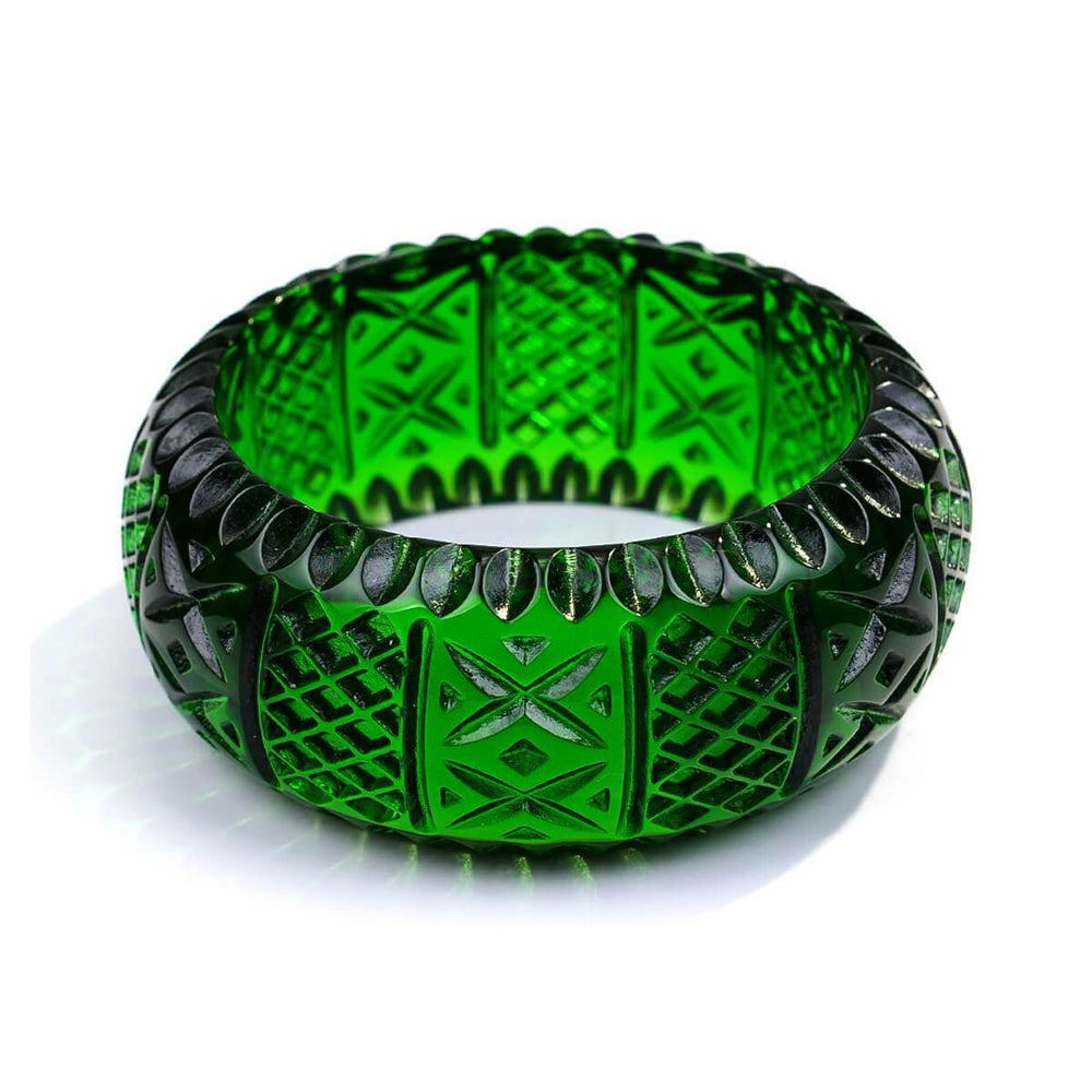 Frosted Bangle Green
