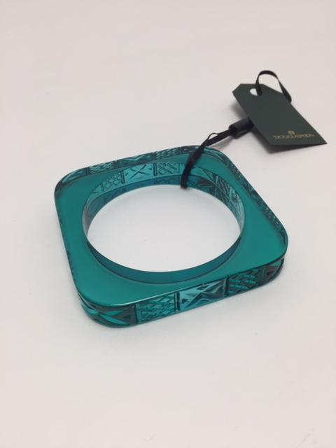 Slim Squared Bangle in Turquoise