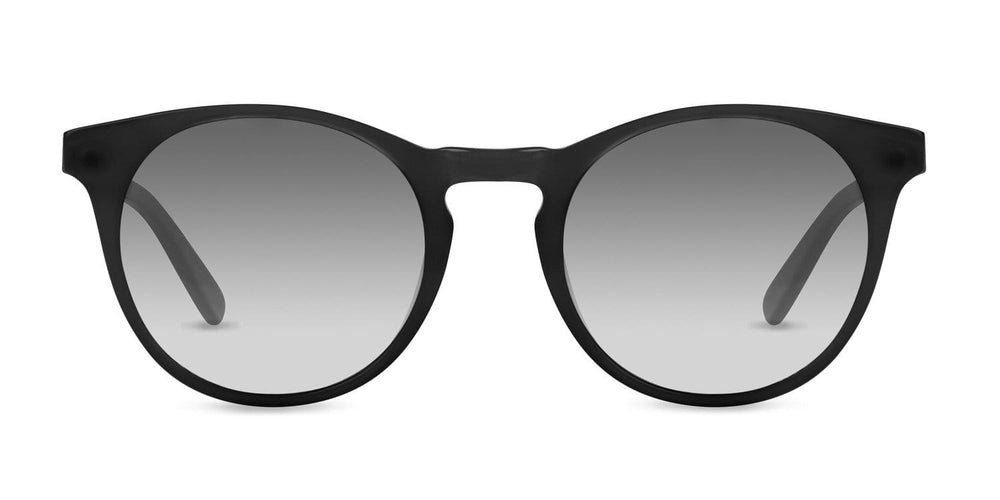 Percy Sunglasses in Matte Black with Grey to White Lenses