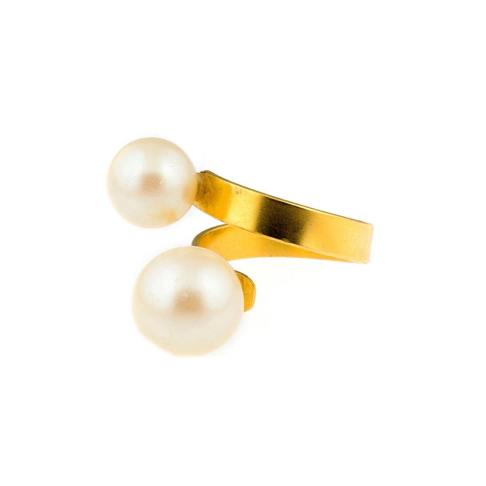 FL Private Collection Rings Double Pearl Twist Ring