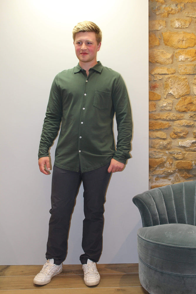 Pique Shirt in Dark Green