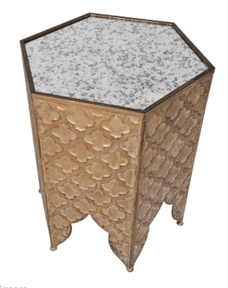 Home Home Gold Hexagonal Table