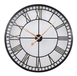 Home Home Lit Metal Round Wall Clock