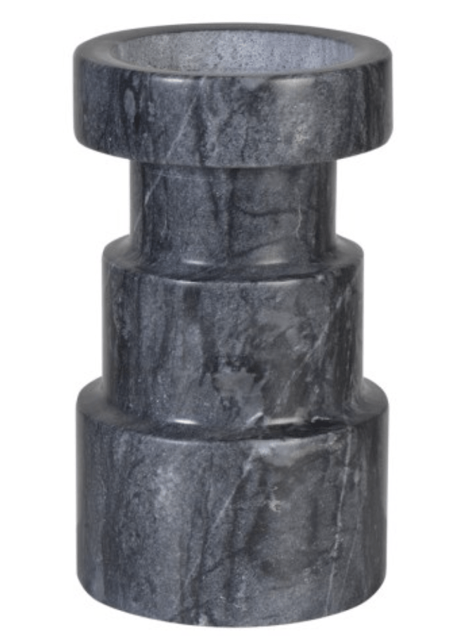 Home Home Medium Grey Marble Candle Holder