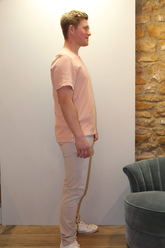 Hymn London Mens T-Shirts Mini Waffle T-Shirt in Pink