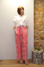 Silk Wide Leg Trousers in Shiraz
