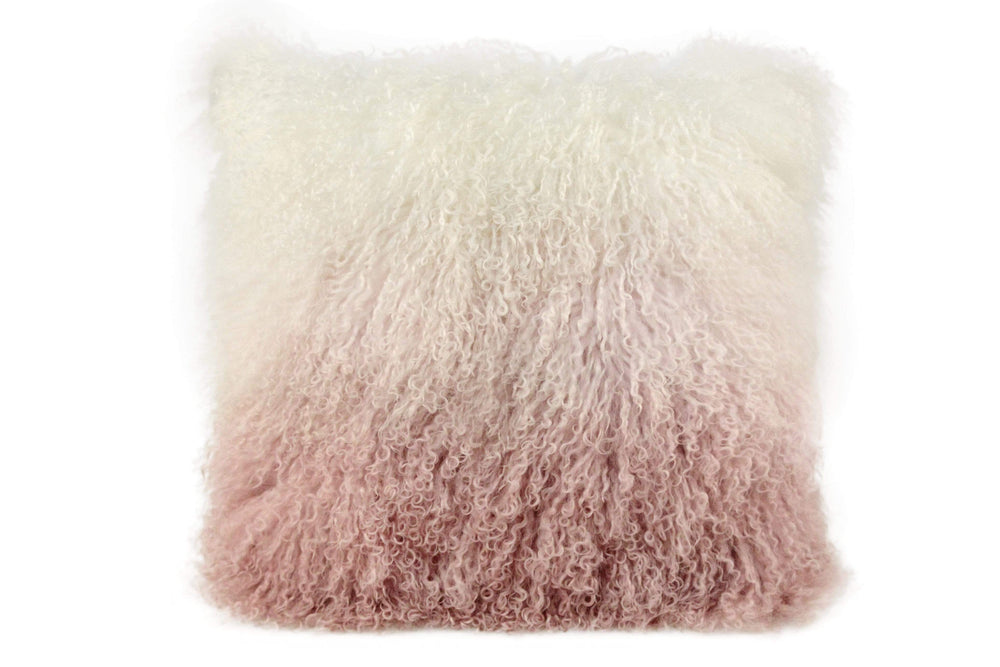 Mongolian 'dipped' Sheepskin Cushion