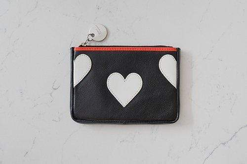 White Heart Purse