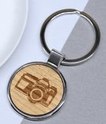 Camera Keyring Rhodium Plated
