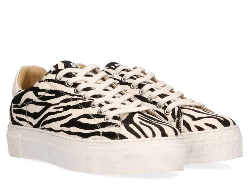 Ted Hairon Leather Black and White Zebra