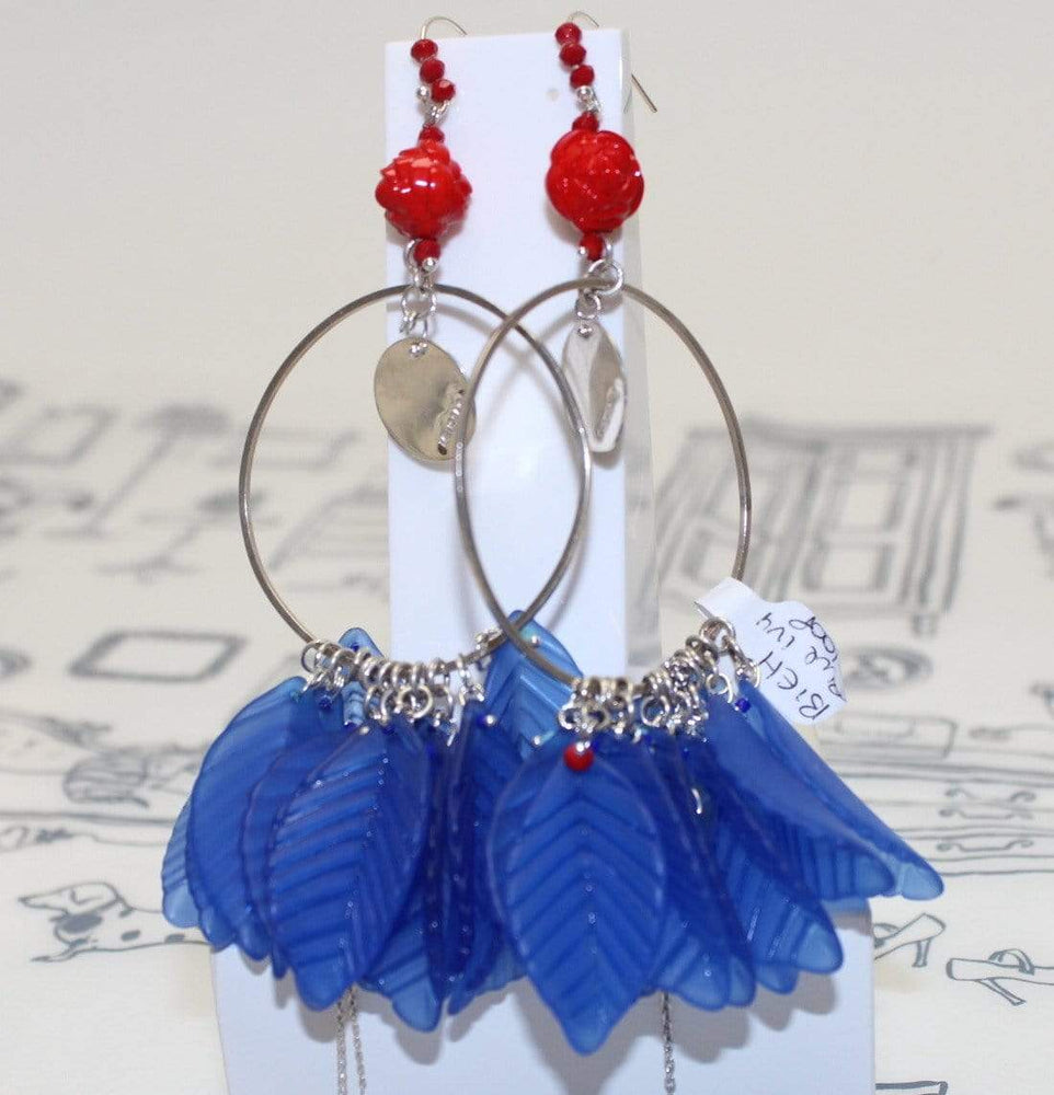 Melissa Curry Earrings Blue Ivy Earrings Hoops