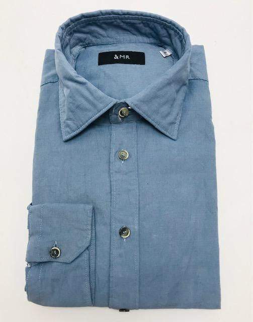 &MR Mens Shirts Cotswold Baby Cord Shirt in Blue