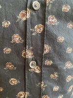 &MR Mens Shirts Dark Green Shirt with Rose Pattern