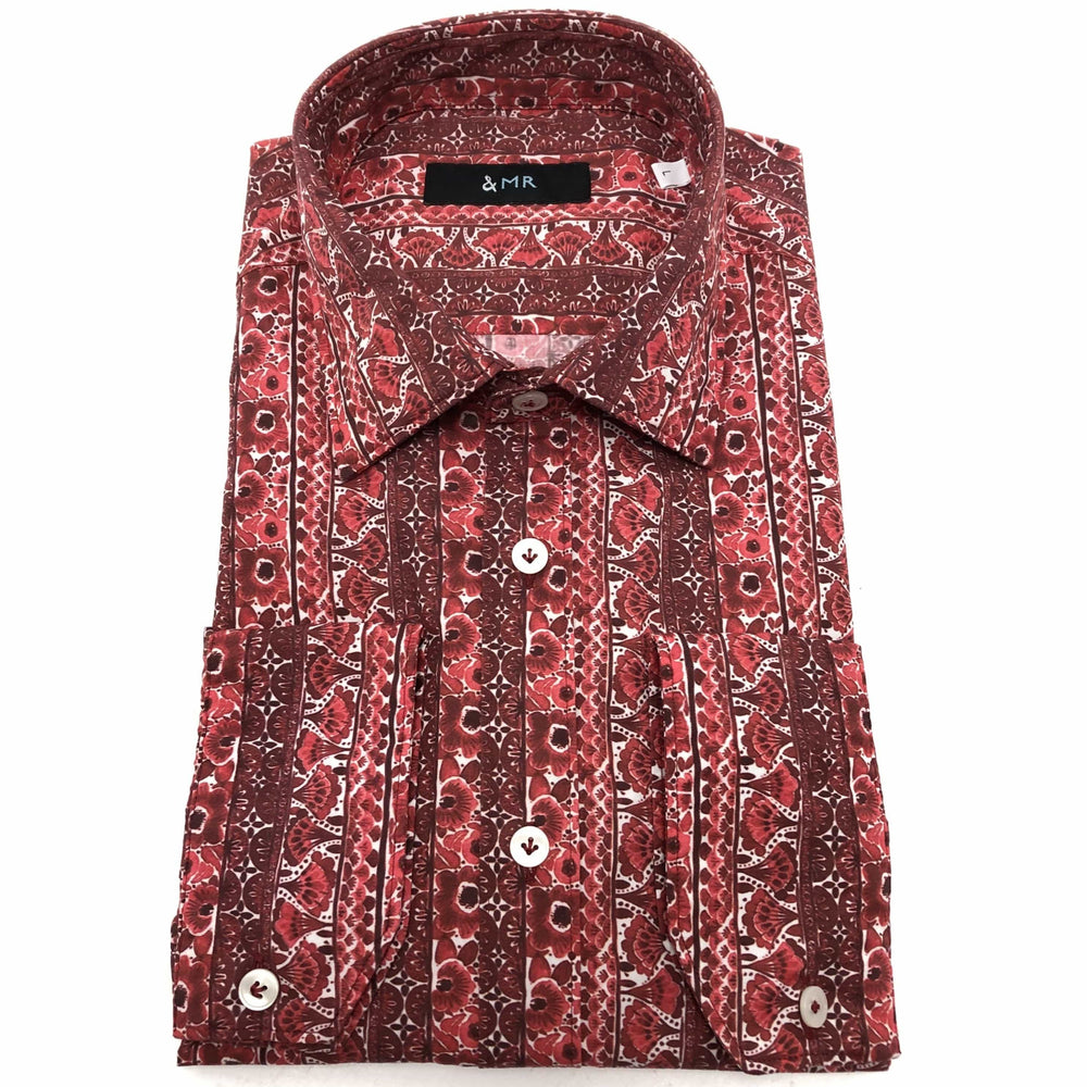 &MR Mens Shirts Palma Shirt in Pomegranate