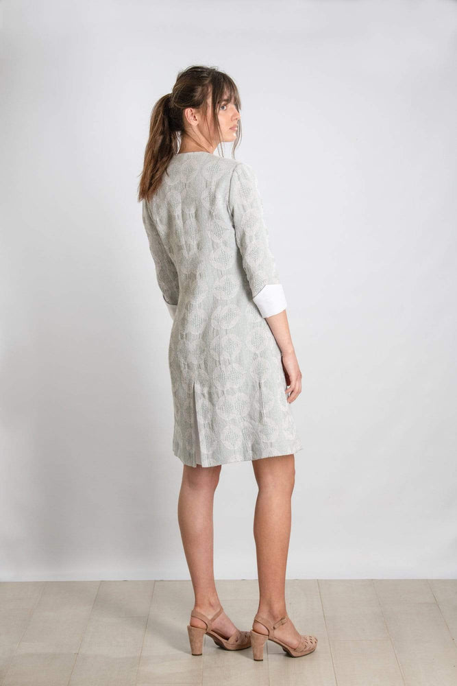 NELLIE & DOVE LIMITED EDITION Dresses Nel's Posh Frock in Textured Duck Egg