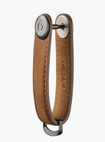 Orbitkey Mens Keyrings Orbitkey Crazy Horse Leather in Chestnut Brown