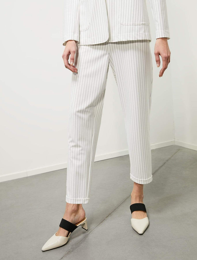 Dotfur Pinstriped Jersey Trousers
