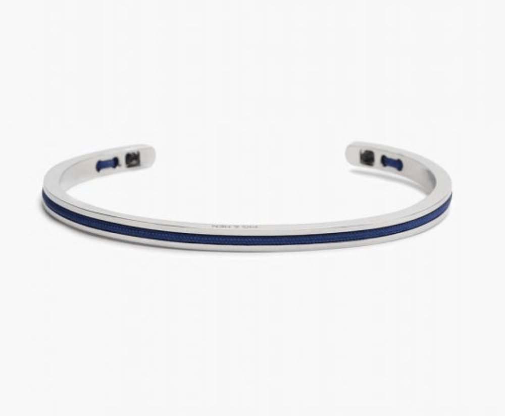 Pig and Hen Mens Accessories Navarch 4mm Bracelet Navy / Silver