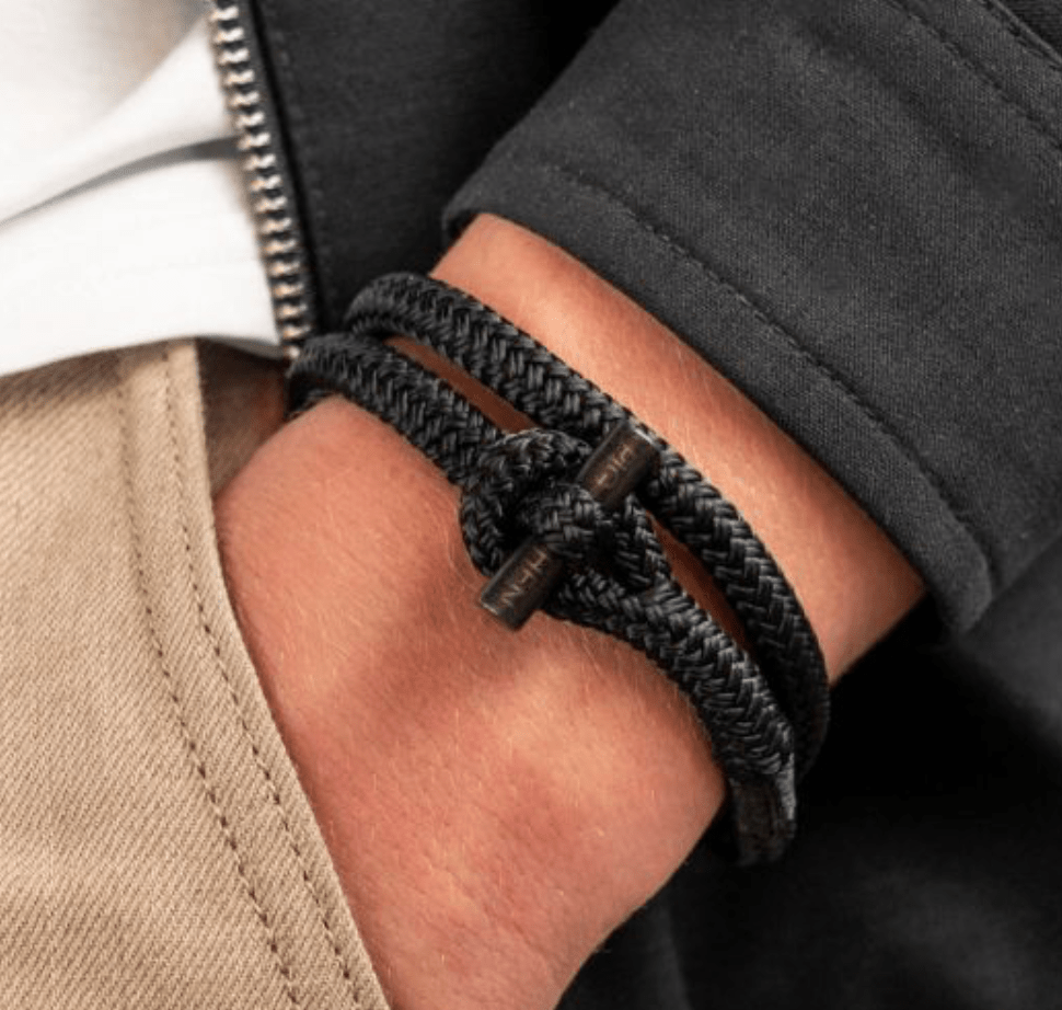 Pig and Hen Mens Accessories Tiny Ted Bracelet in Black / Black