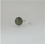 Labradorite Moonstone Silver Plated Simple Ring