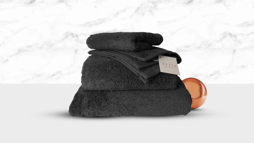 SEVIN London Home Bubble Bath Towels in CHARCOAL