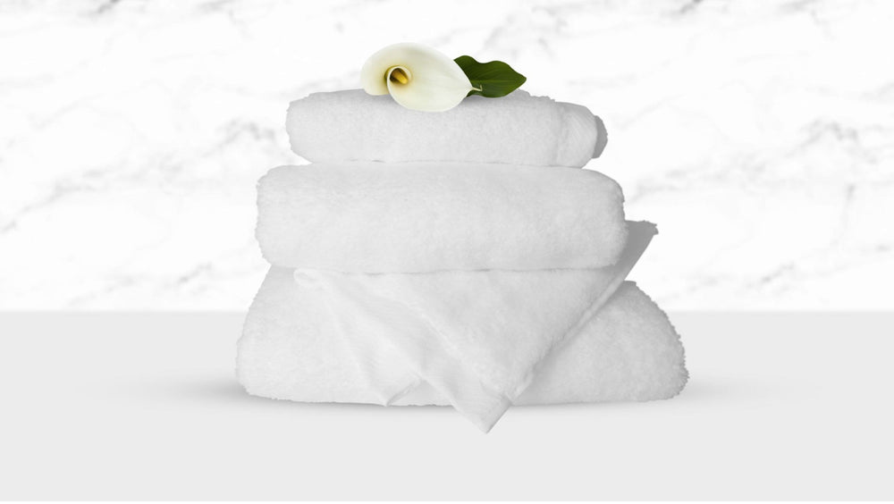 Bubble Bath Towels in WHITE