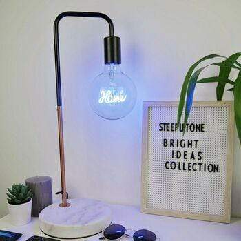 Steepletone Home BULB / BLUE Bright Ideas LED Text Bulb HOME