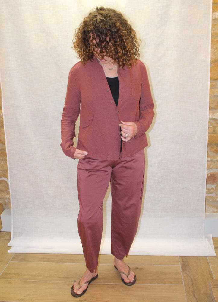 Out of The Ordinary Trousers in Burgundy