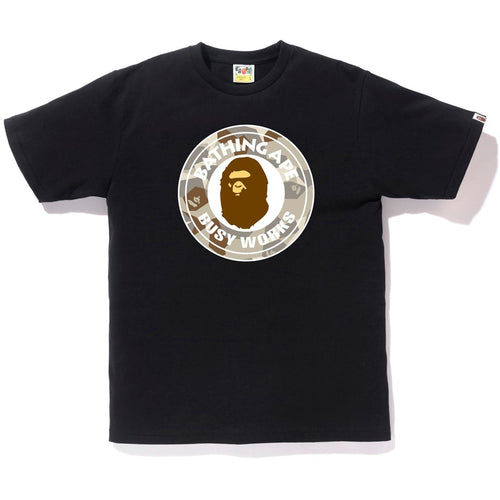 Bape Busy Works Tee - Black/ Splinter Camo