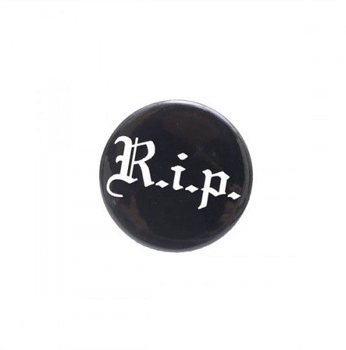 Supreme R.I.P Button - Black - CopvsDrop