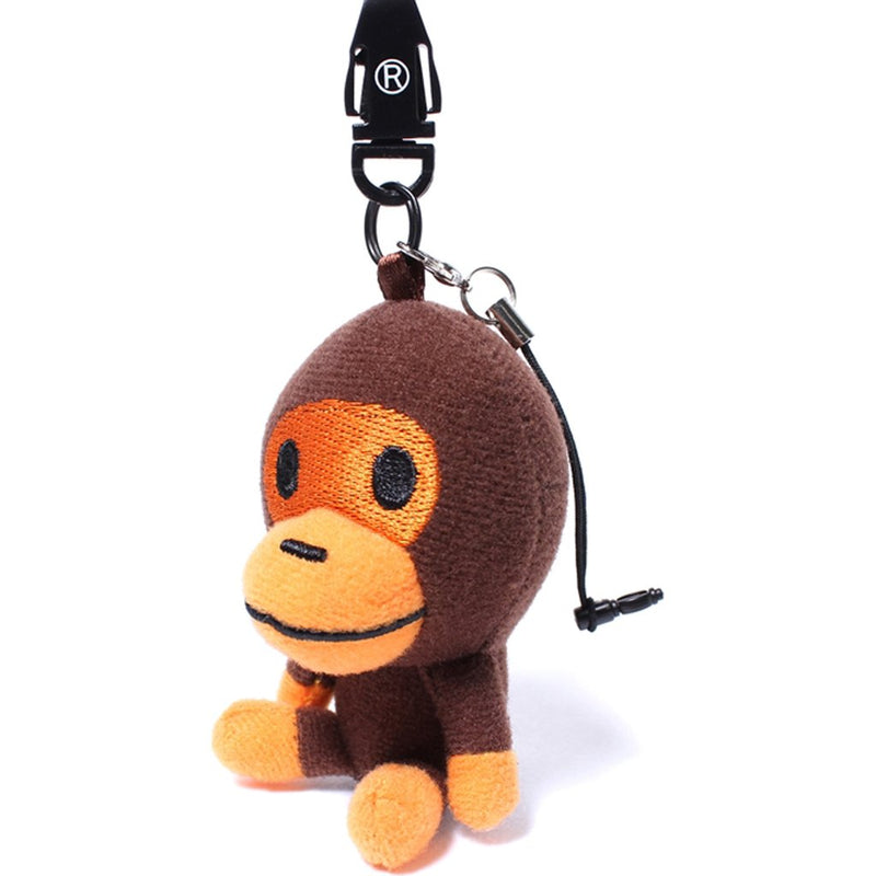Baby Milo Monkey Keychain - Brown/Orange-*